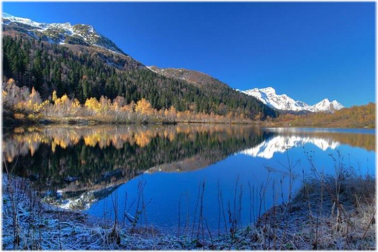 озеро Кардывач зимой