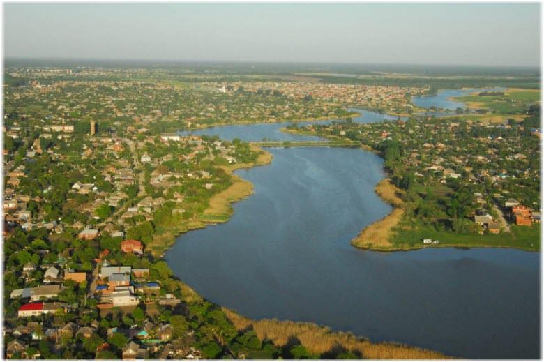 фото течения Кирпили с воздуха