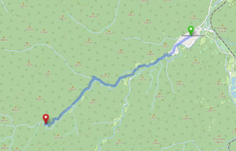маршрут до Аюкских водопадов