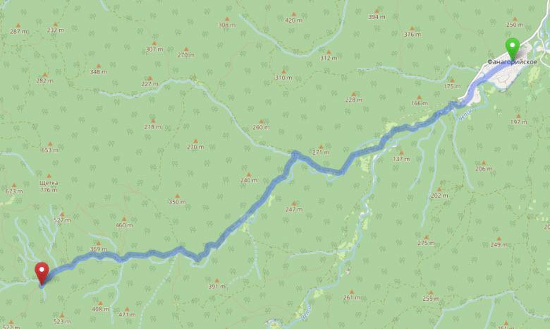 маршрут с. Фанагорийское - Большая Фанагорийская пещера