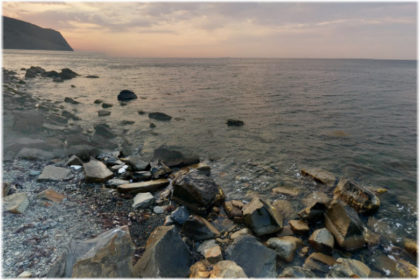пляж у санатория Моряк