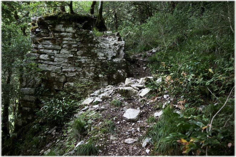 руины крепости в Хосте