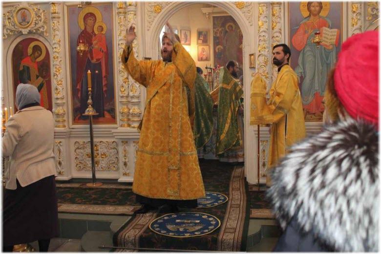 служба в церкви блаженной Ксении