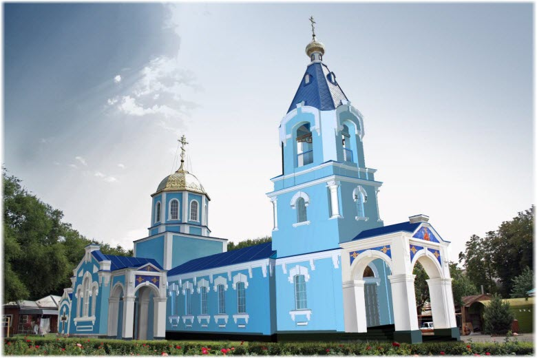 Свято-Успенский храм в Тихорецке