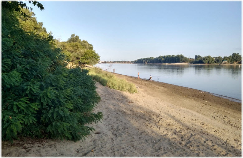 пляж Краснодарского лесопарка