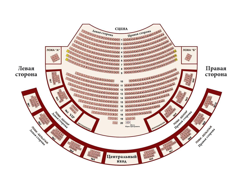 схема Зимнего театра с местами