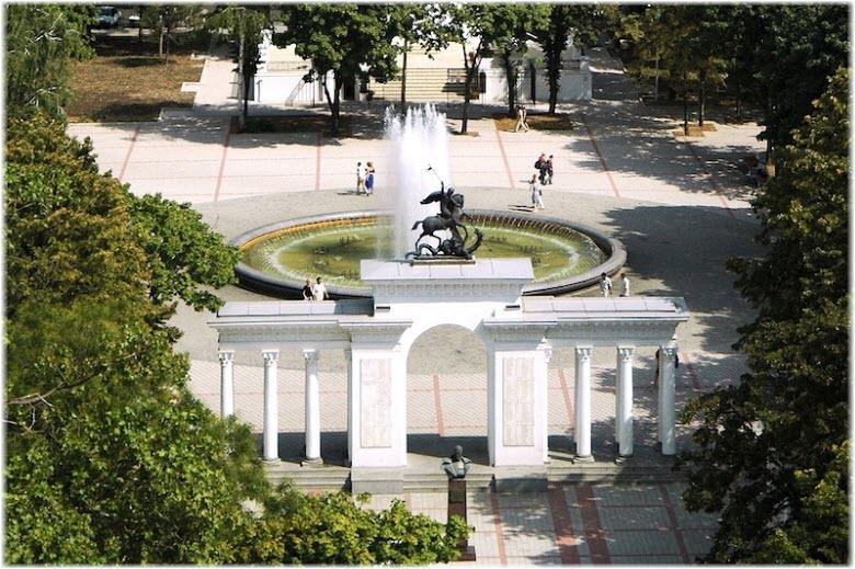 Сквер Жукова в Краснодаре