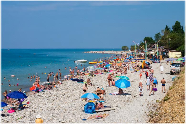 Центральный пляж в Аше