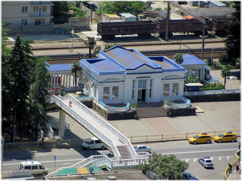 фото ЖД-станции с высоты