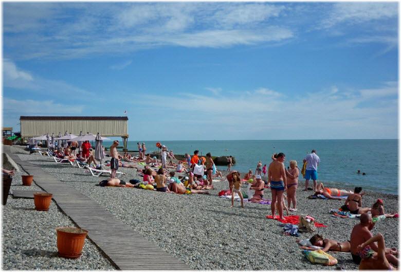 пляж санатория Коралл