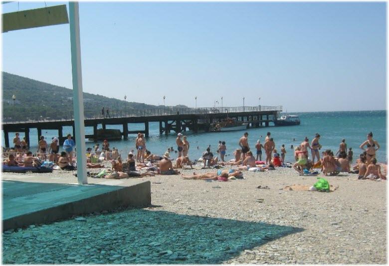 понтон у Городского пляжа
