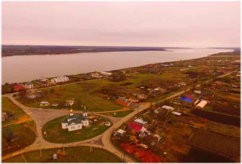 фото Миусского лимана с высоты