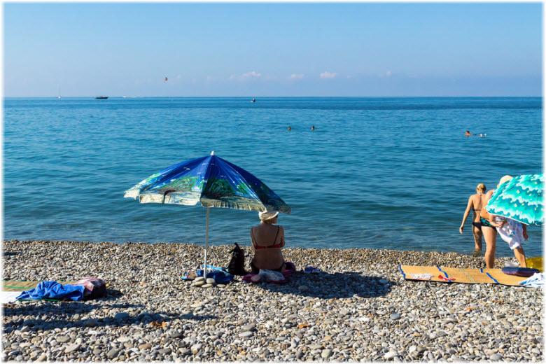фото на лазаревском пляже Чайка