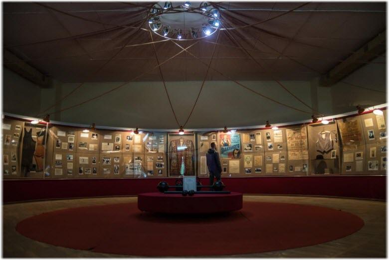 фото в подвале музея Поддубного