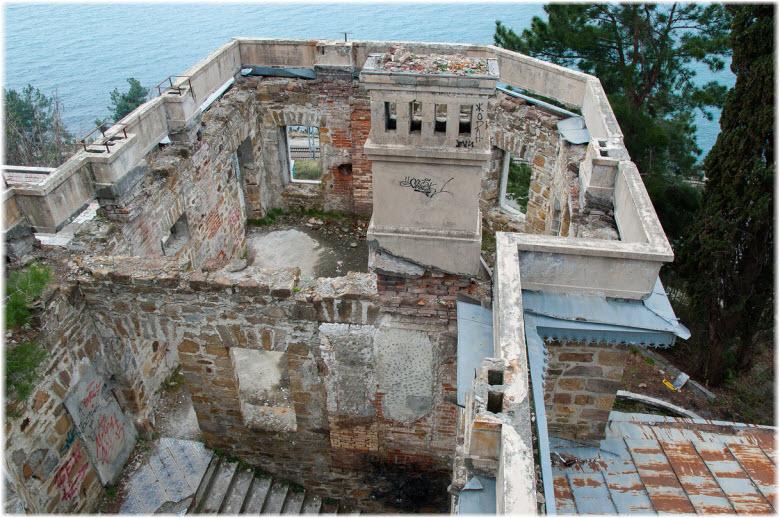 фото замка Квитко с высоты