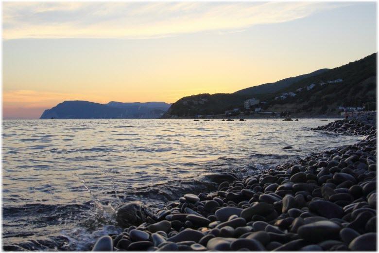 фото на пляже поселка