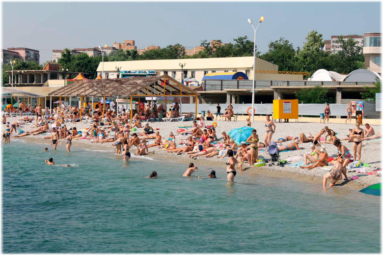 фото Центрального пляжа с моря