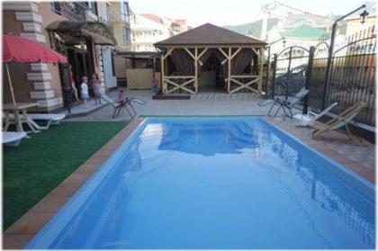 гостевые дома в Лазаревском с бассейном