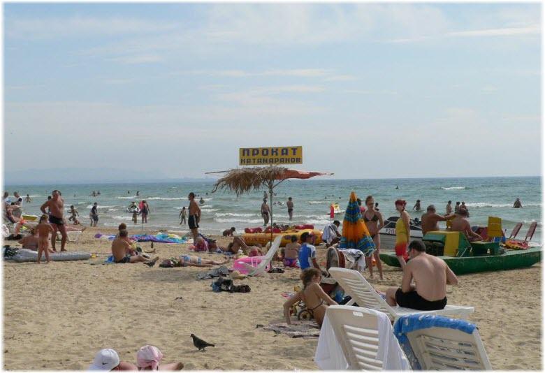 Центральный пляж Витязево