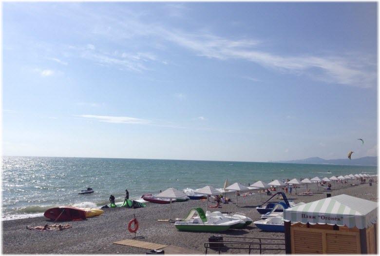 фото с пляжа Огонек