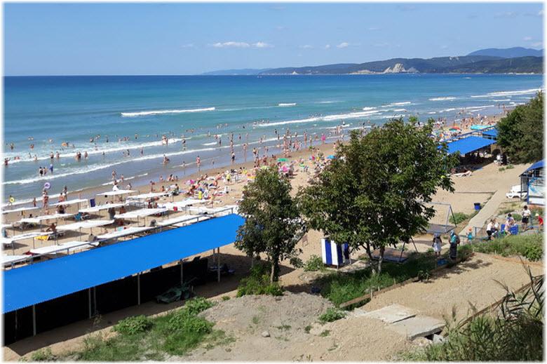пляж лагеря Орленок