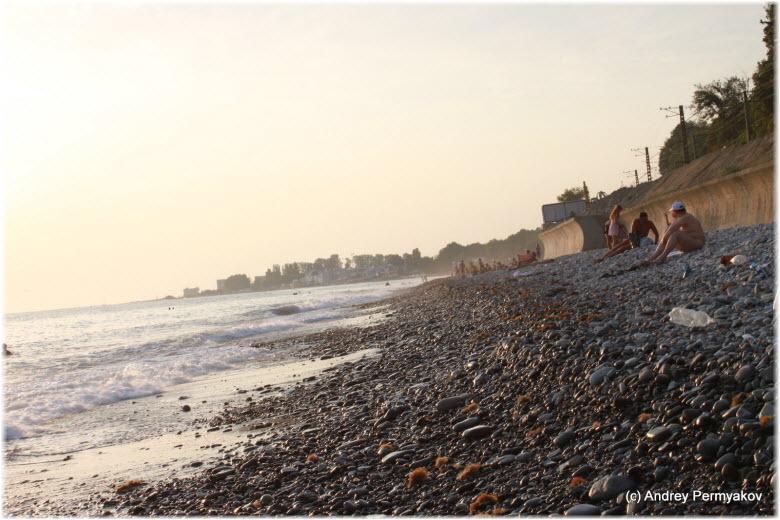 Пляж за санаторием «Одиссея»