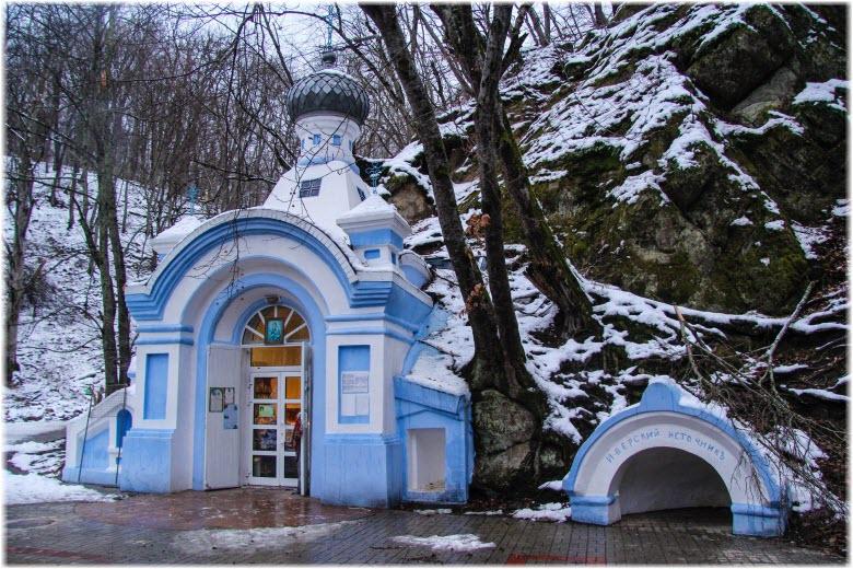 фото часовни зимой