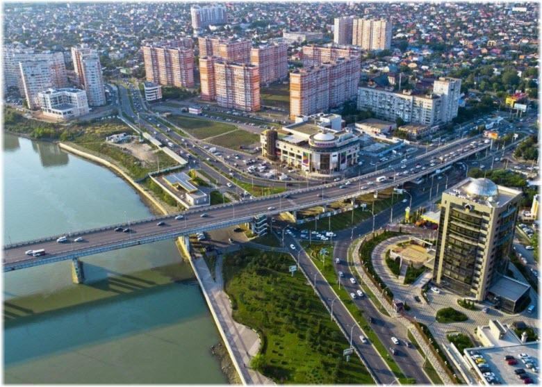 фото Тургеневского моста с высоты