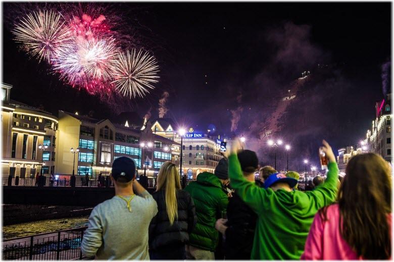новый год на Красной Поляне