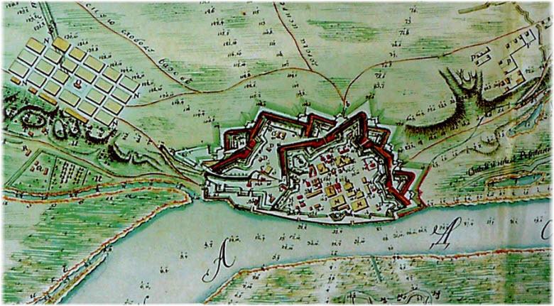 крепость на карте