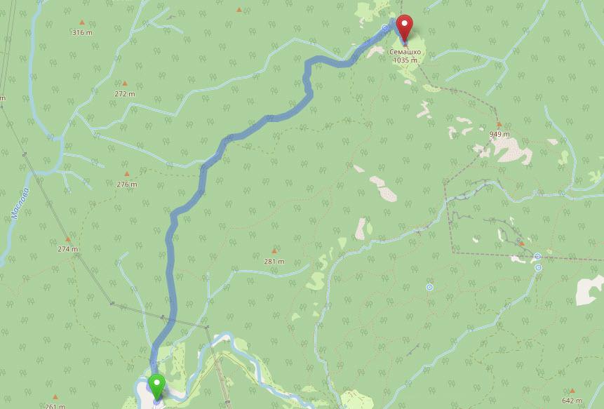 маршрут Анастасиевка - гора Семашхо