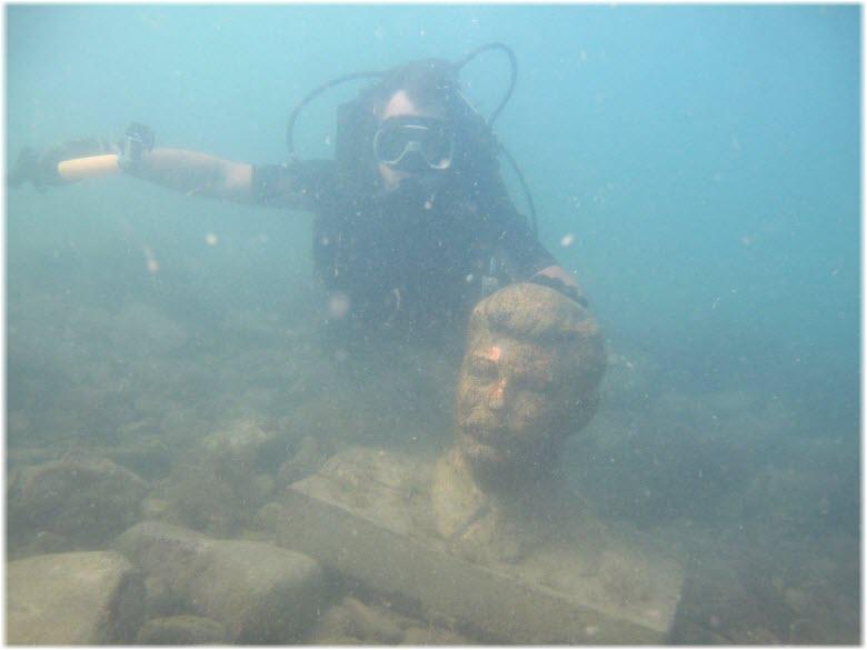 подводный музей в Большом Утрише