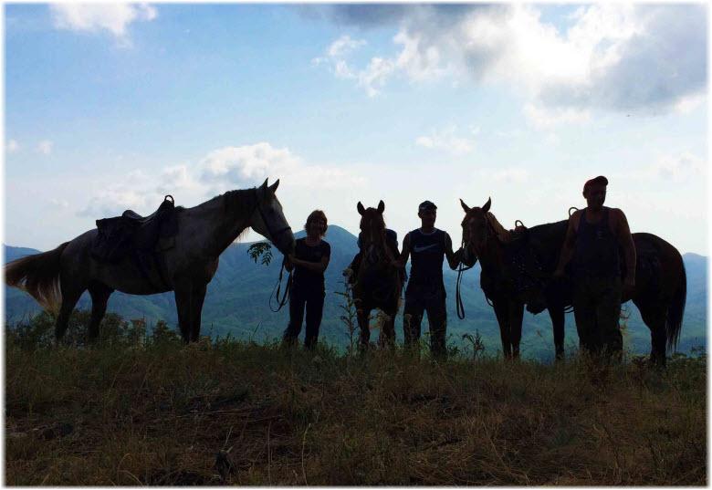 вылазки на лошадях вечером