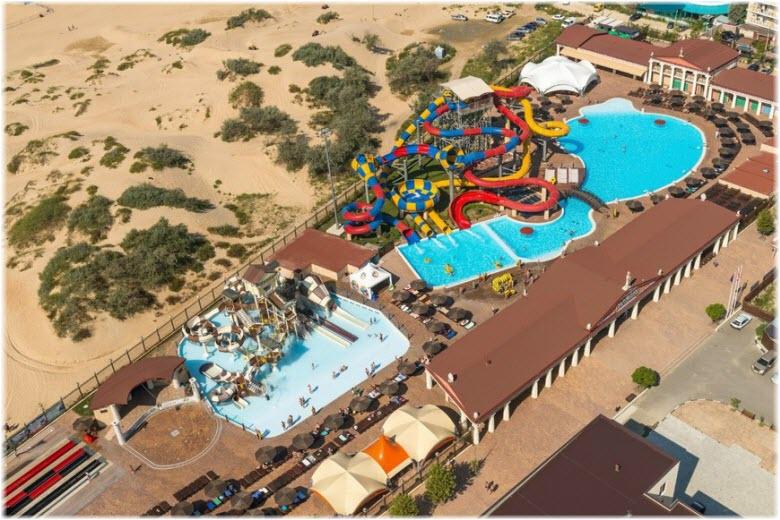 фото аквапарка Олимпия с высоты