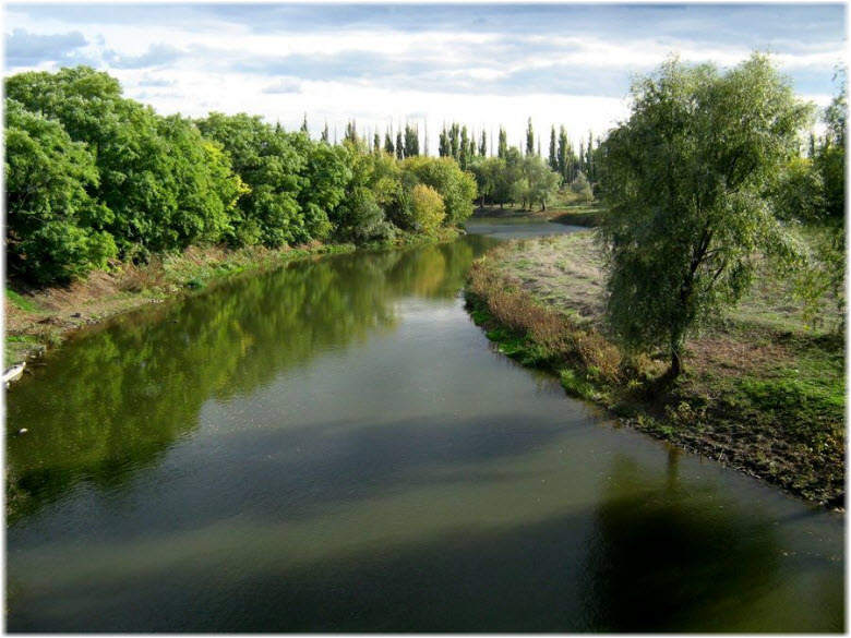река Миус на Матвеевом Кургане