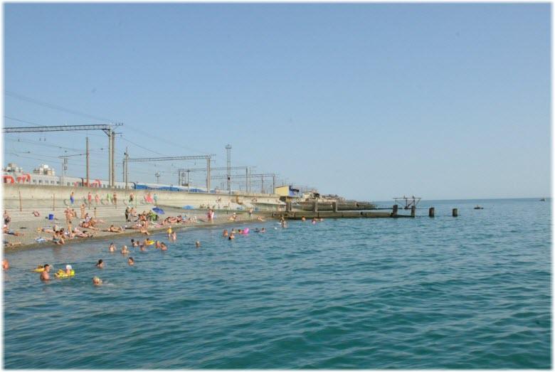 берег моря у Курортного городка