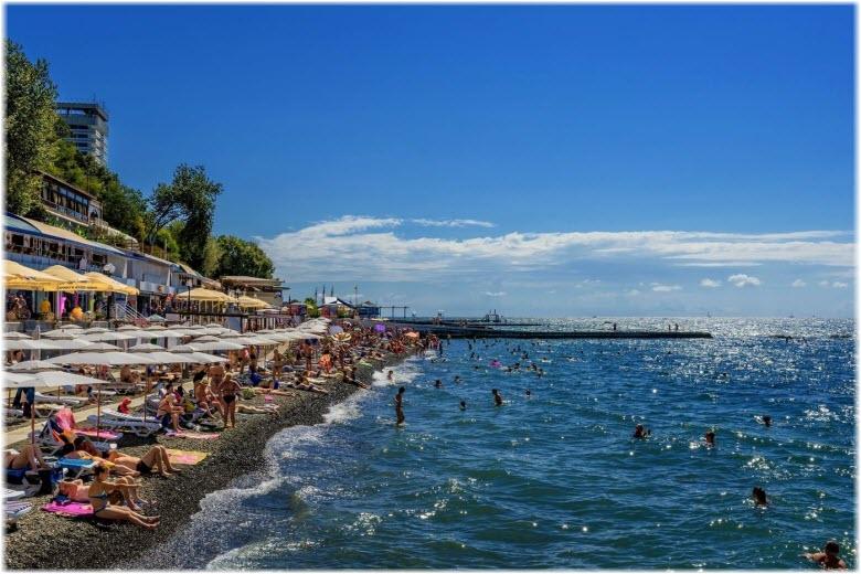 берег моря в Сочи