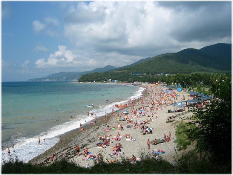 Центральный пляж в Кринице