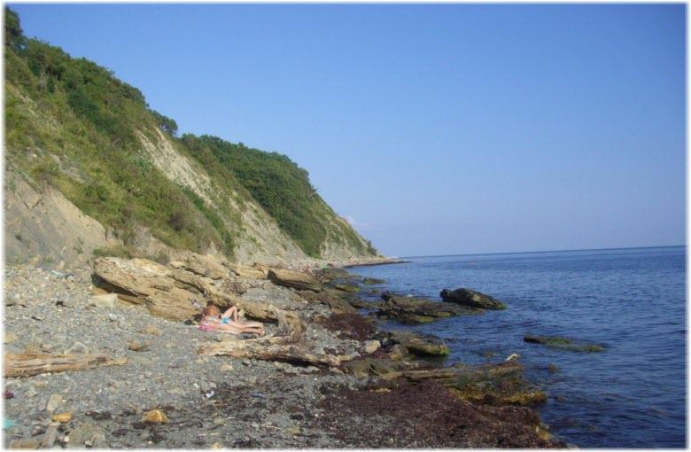 пляж у автокемпинга в Кринице