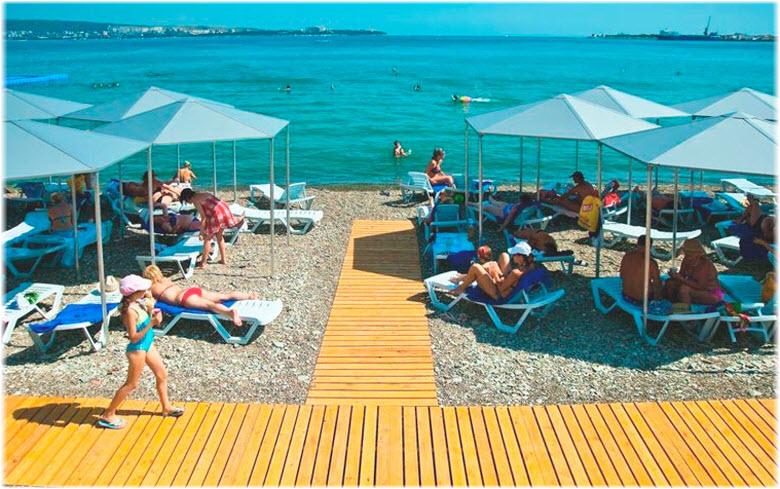 фото на пляже санатория Голубая волна