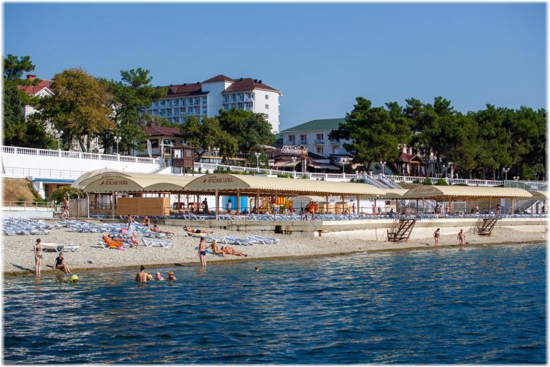 фото пляжа Красная Талка с моря