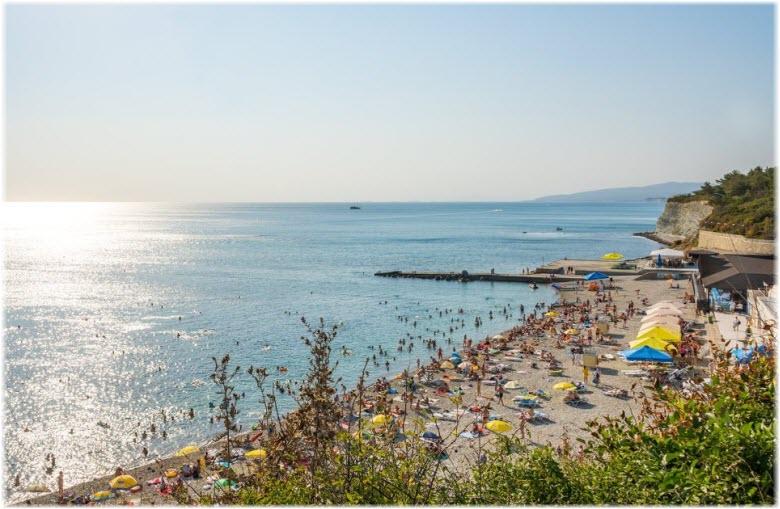 фото пляжа санатория Факел