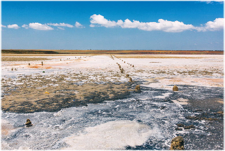 на Соленом озере в Краснодарском крае