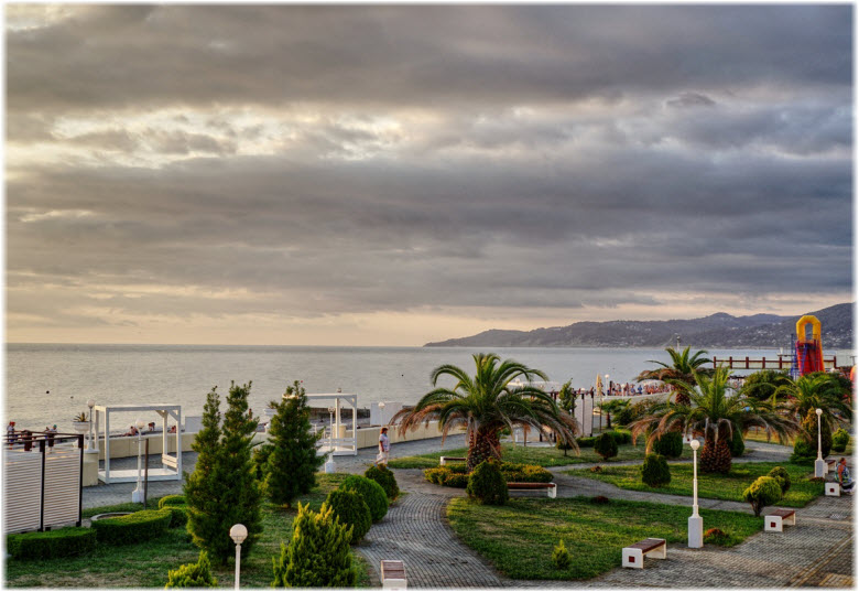 фото-панорама пляжа Ривьера