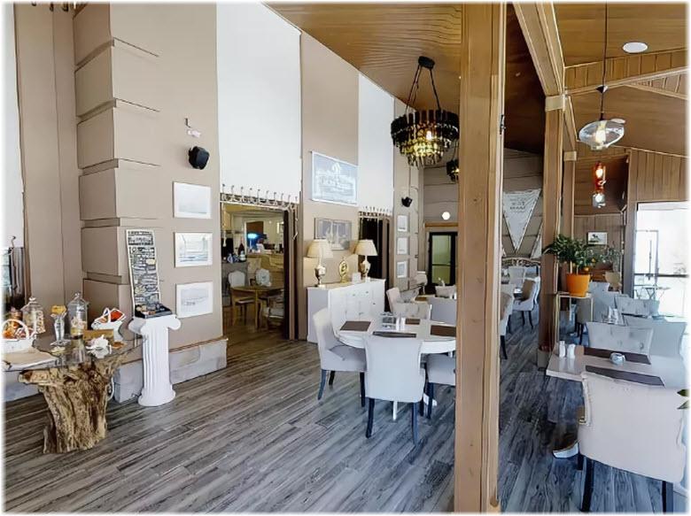 интерьер рыбного ресторана Alen Rosso
