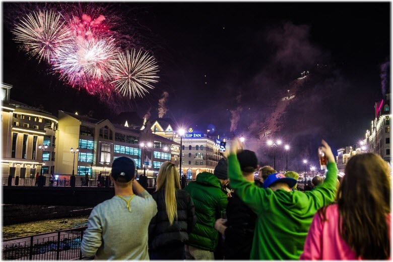 улицы Сочи на Новый год
