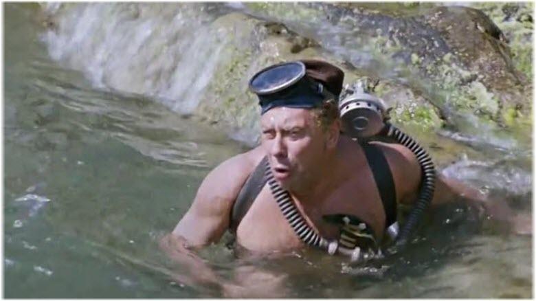 Папанов в воде