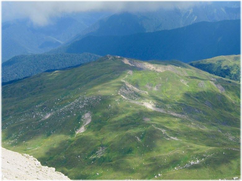 вид с горы Оштен