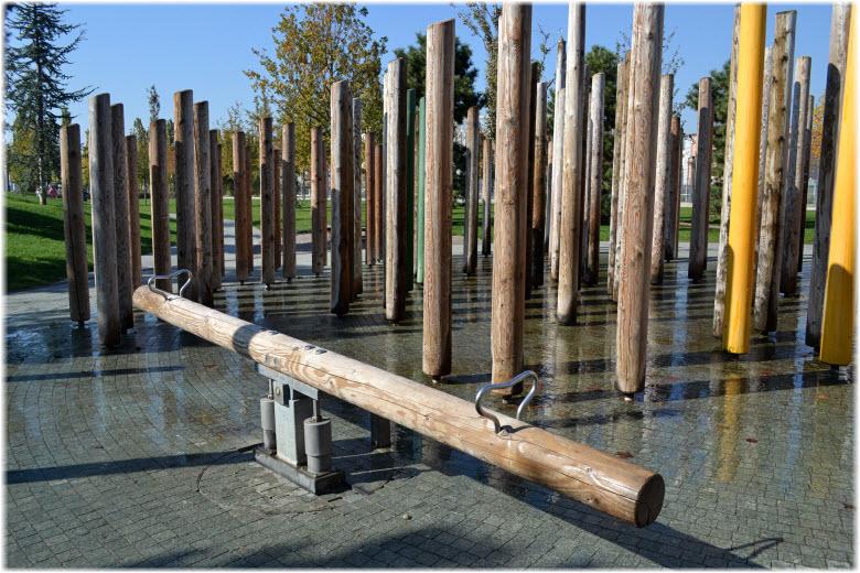 Водный лабиринт в парке Краснодар