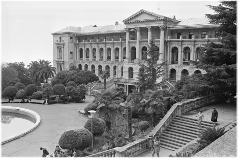 старое фото санатория